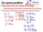 air cannon problem