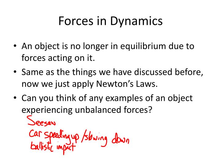 Forces in Dynamics