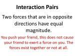 interaction pairs
