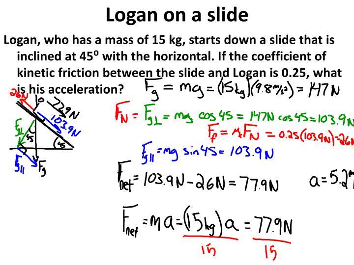 Logan on a slide