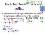 simple push problem continued