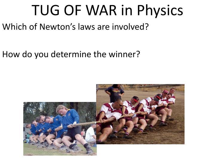 TUG OF WAR in Physics