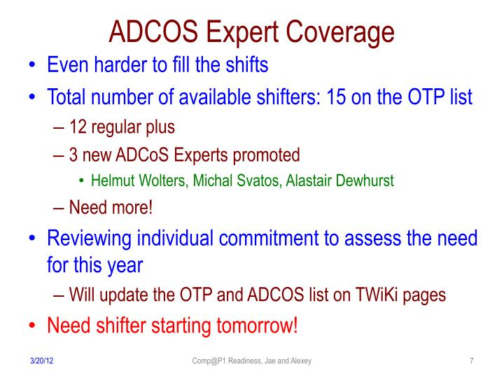 ADCOS Expert Coverage