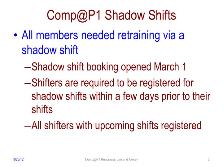 Comp@P1 Shadow Shifts