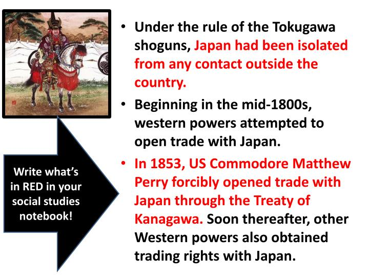 Under the rule of the Tokugawa shoguns,