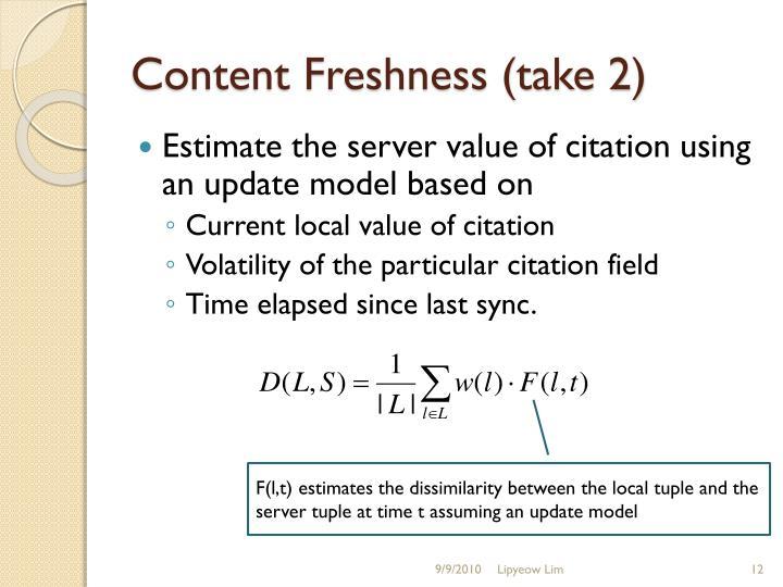 Content Freshness (take 2)