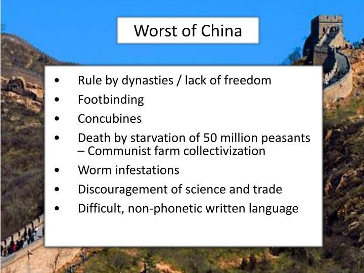 Worst of China