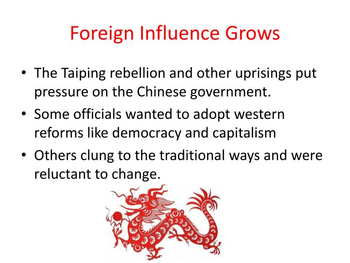 Foreign Influence Grows