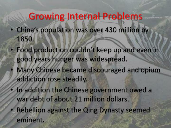 Growing Internal Problems