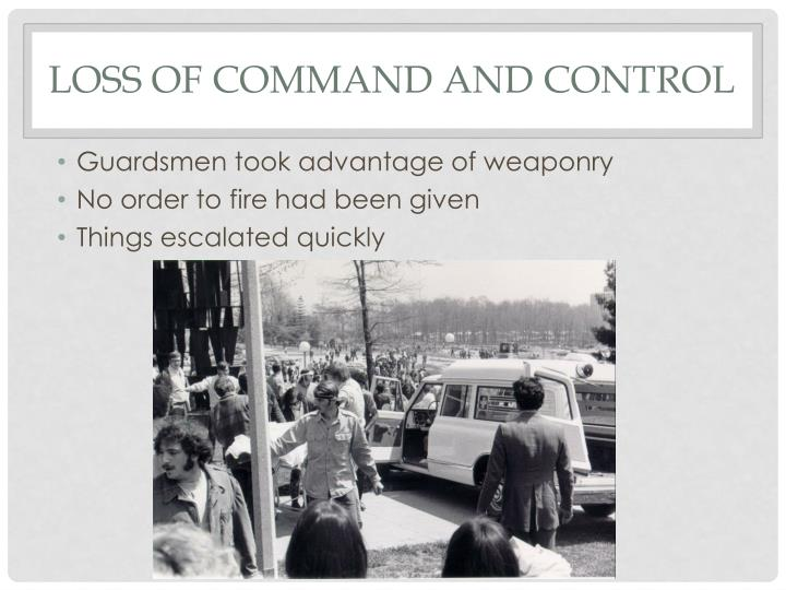 Loss of command and control