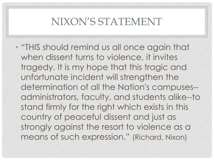 Nixon's statement