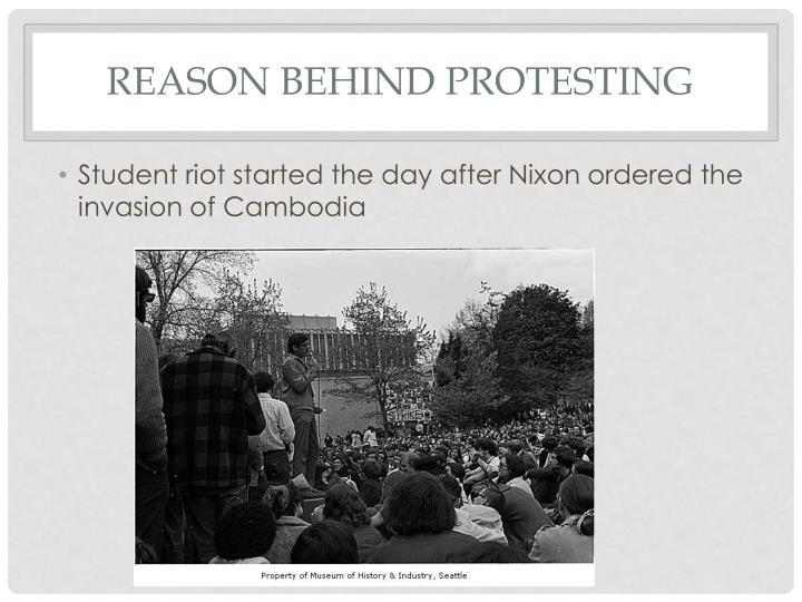 Reason behind Protesting
