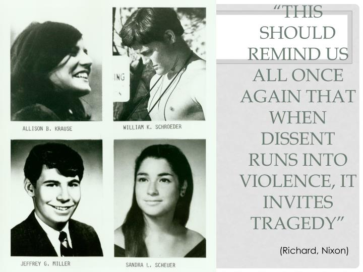 """""""This should remind us all once again that when dissent runs into violence, it invites tragedy"""