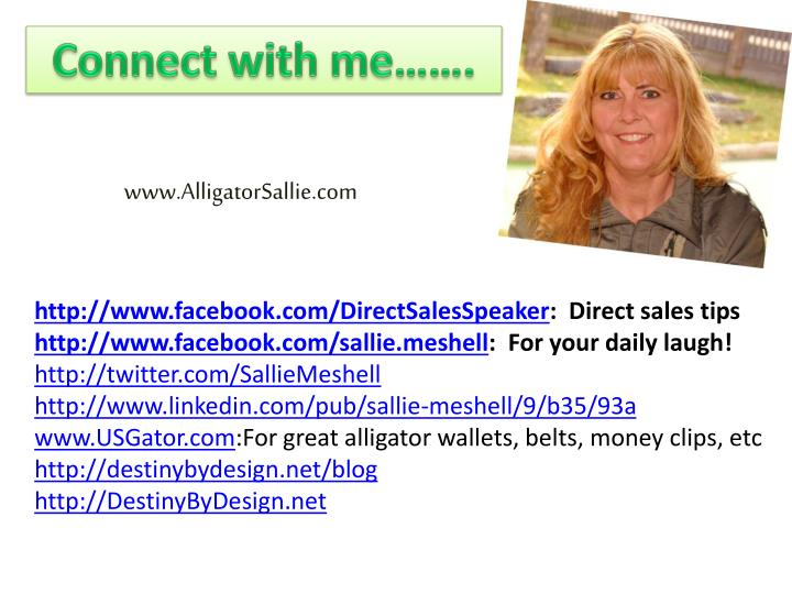 Connect with me…….