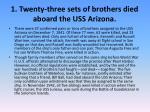 1 twenty three sets of brothers died aboard the uss arizona