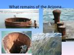 what remains of the arizona