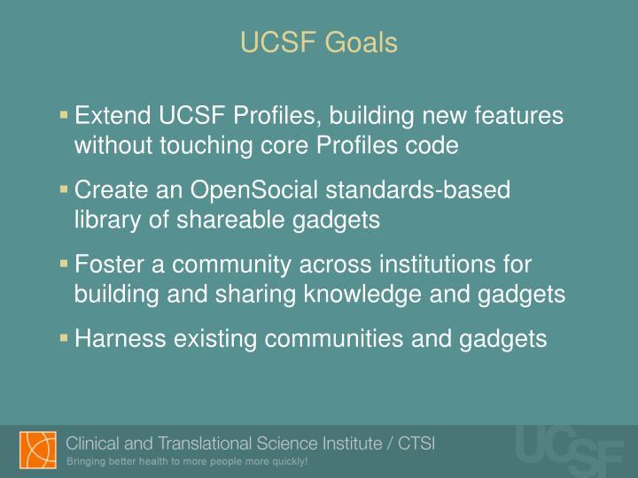 UCSF Goals