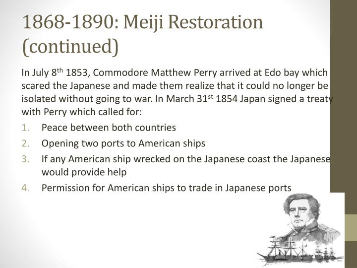 1868-1890: Meiji Restoration (continued)