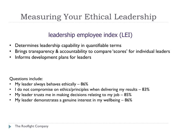 Measuring Your Ethical Leadership