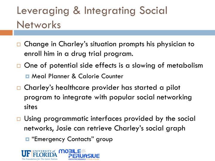 Leveraging & Integrating Social Networks