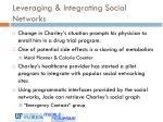 leveraging integrating social networks