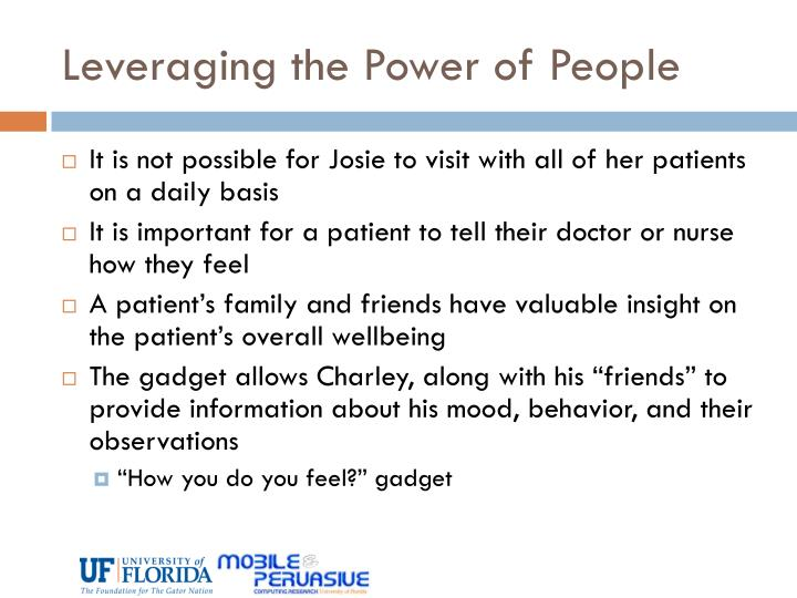 Leveraging the Power of People