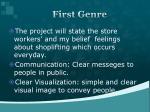 first genre