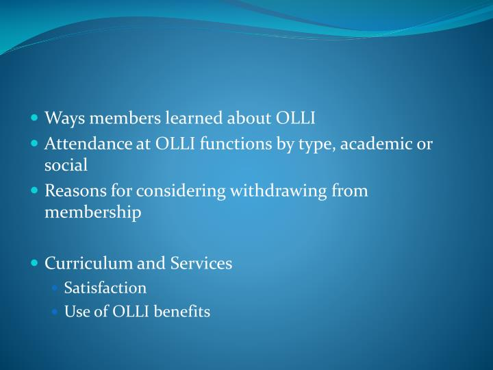 Ways members learned about OLLI