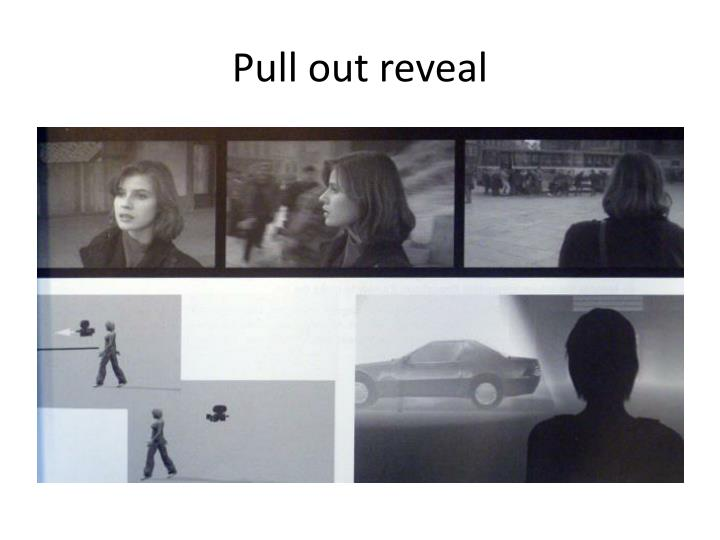 Pull out reveal