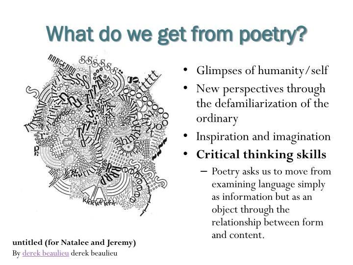 What do we get from poetry?