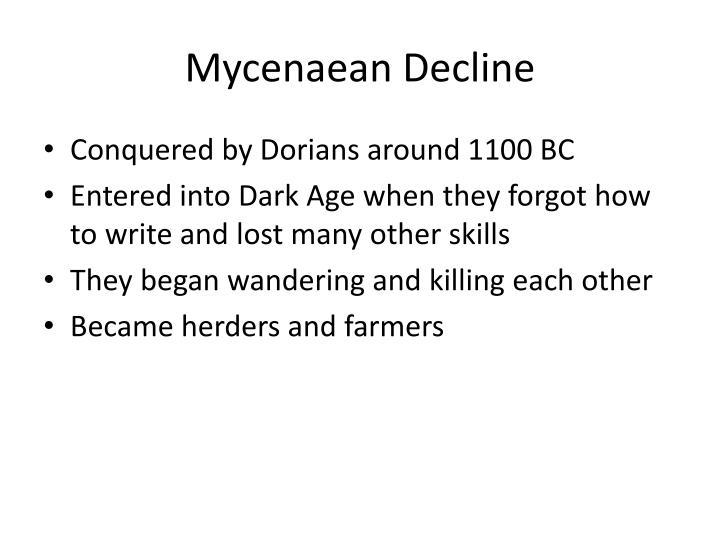 Mycenaean Decline