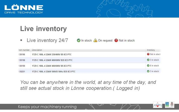Live inventory