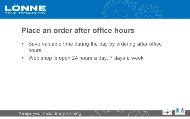 Place an order after office hours