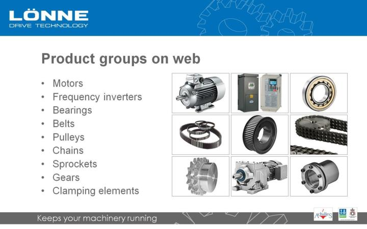 Product groups on web