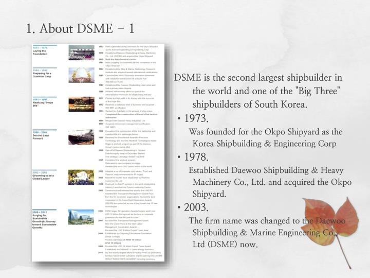 1. About DSME - 1