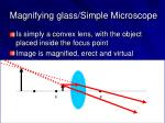 magnifying glass simple microscope