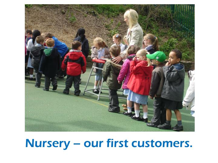Nursery – our first customers.