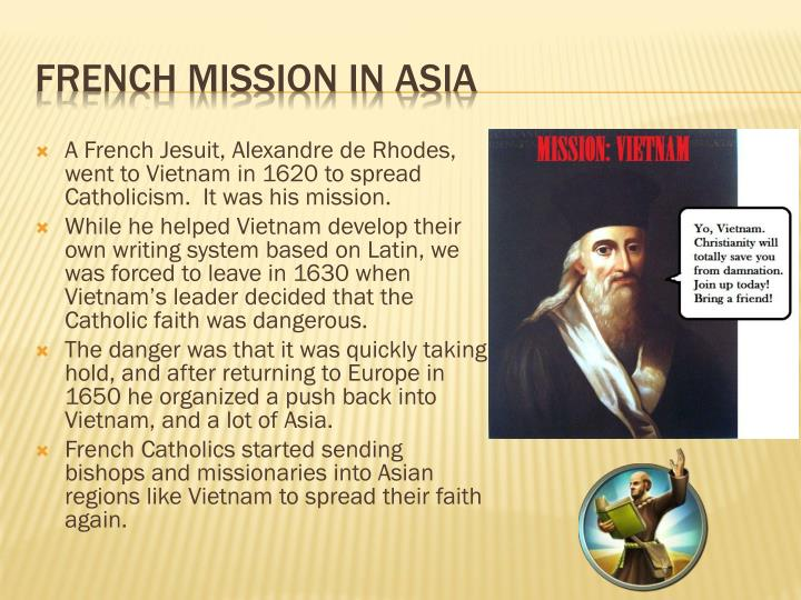 French mission in asia