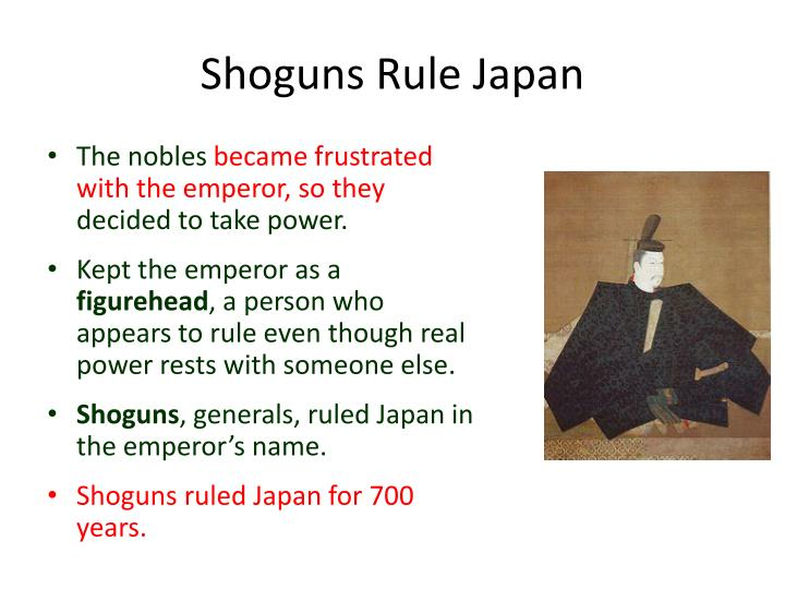 Shoguns Rule Japan