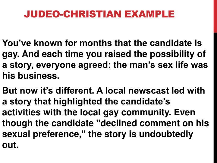 Judeo-Christian Example