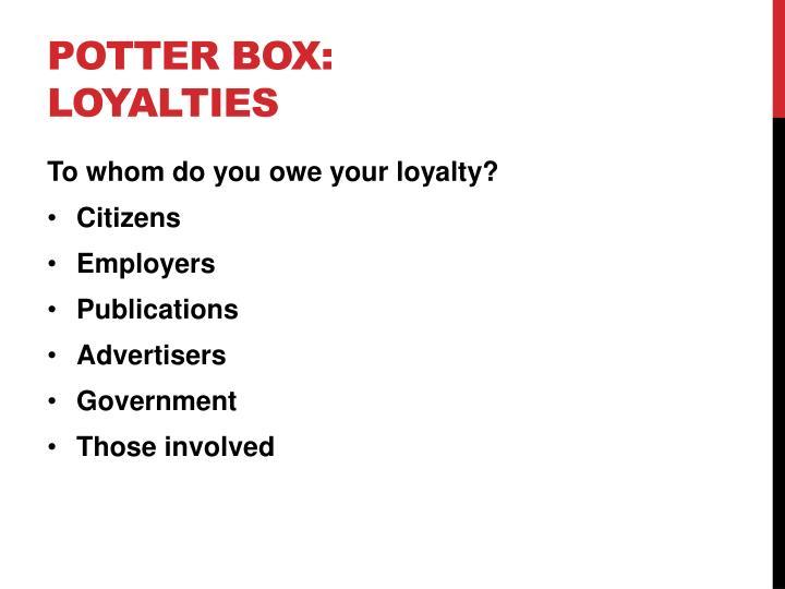 Potter Box: