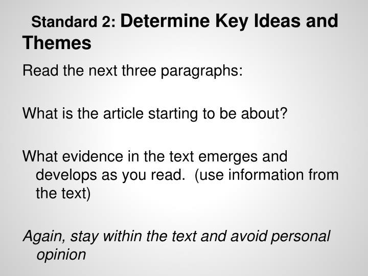 Standard 2: