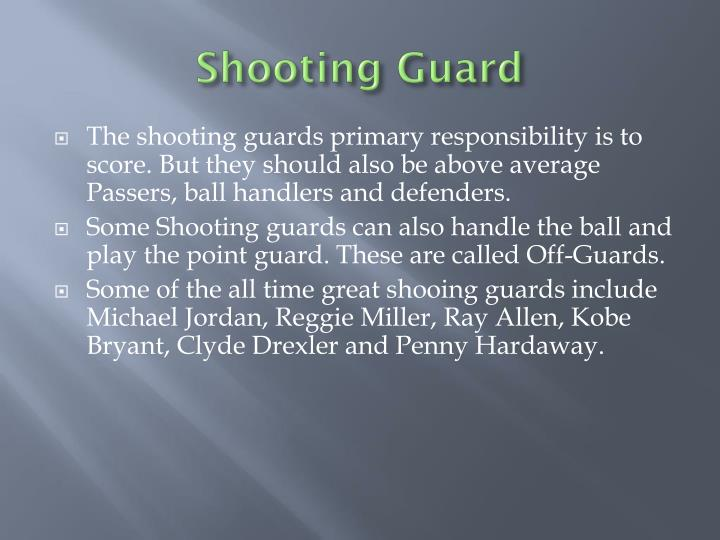 Shooting Guard
