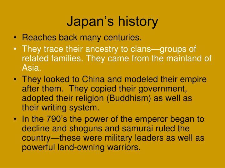 Japan's history