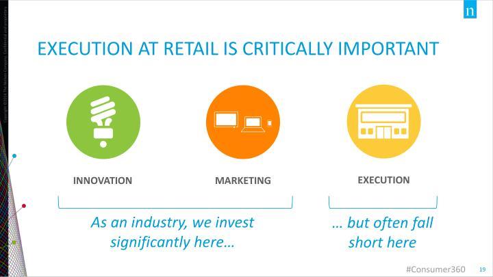 Execution at retail is critically important