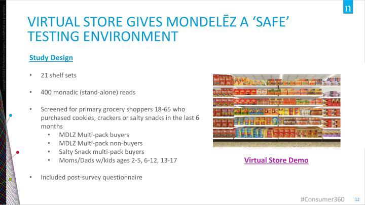 Virtual store gives mondelēz a 'safe' testing environment