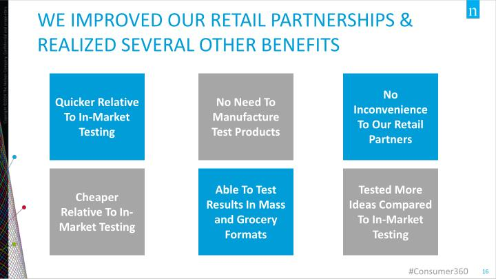 We improved our retail partnerships & realized several other benefits