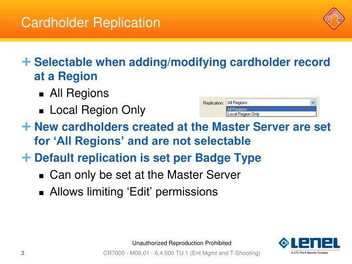 Cardholder Replication