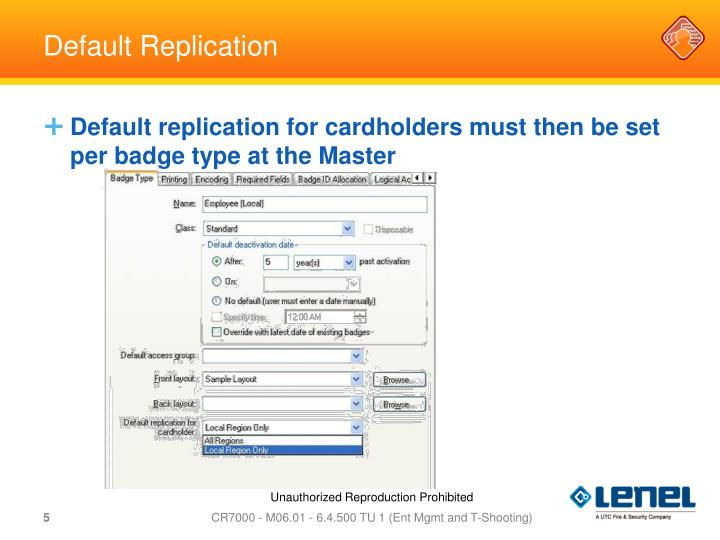 Default Replication