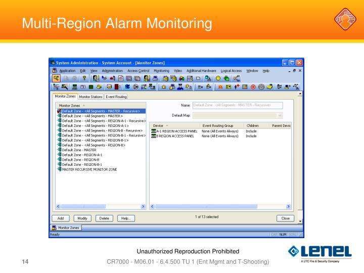 Multi-Region Alarm Monitoring